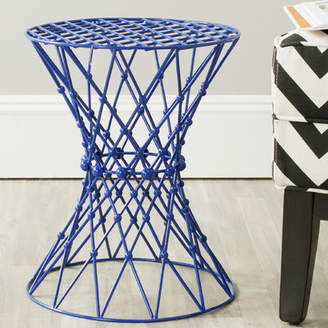Wrought Studio Vanbuskirk Iron Wire Blue Accent Stool
