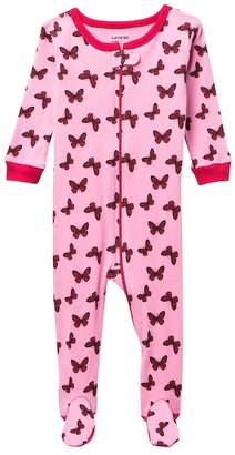 Leveret Butterfly Footed Pajama Sleeper (Baby Girls)