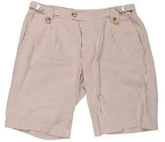 Dolce & Gabbana Pleated Seersucker Shorts