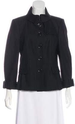 Burberry Peter Pan Collar Long Jacket