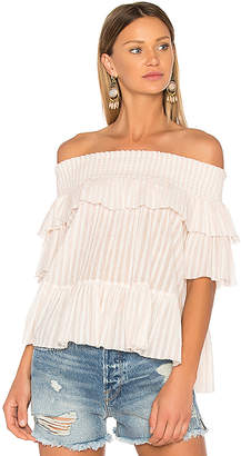 Ulla Johnson Kasia Blouse in Pink $253 thestylecure.com