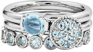 Simply Stacks Sterling Blue Topaz Ring Set