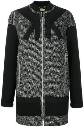 Versace single breasted zipped coat
