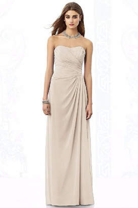 After Six Strapless Rouched Bridesmaid