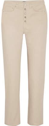 Totême Alvaro High-rise Slim-leg Jeans - Cream
