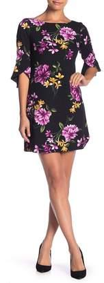 Vince Camuto 3\u002F4 Sleeve Printed Shift Dress (Petite)