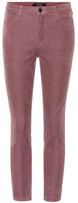 J Brand Alana corduroy skinny cropped jeans