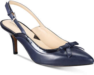 Adrienne Vittadini Simka Pointed Toe Slingback Pumps Women's Shoes $99 thestylecure.com