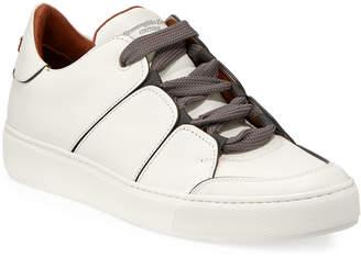 Ermenegildo Zegna Tiziano Men's Leather Low-Top Sneakers