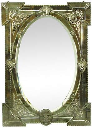 One Kings Lane Vintage Venetian Mirror - The Barn at 17 Antiques