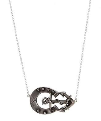 Annina Vogel Silver Horseshoe Anchor Necklace