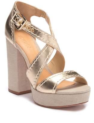 Schutz Cadore Metallic Wedge Sandal