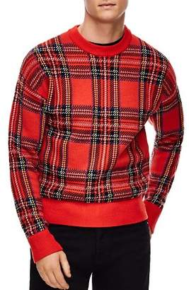 Sandro Tartan Plaid Sweater