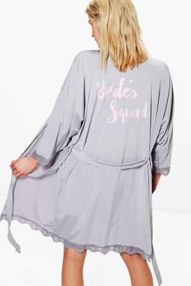boohoo Georgina Bride's Squad Robe