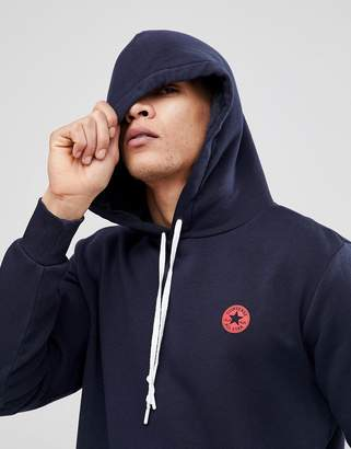 Converse Pullover Hoodie With Chuck Patch In Navy 10006680-A03
