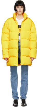 Calvin Klein Jeans Est. 1978 Yellow Down Logo Puffer