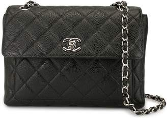 Chanel Pre-Owned diamond quilted double chain shoulder bag