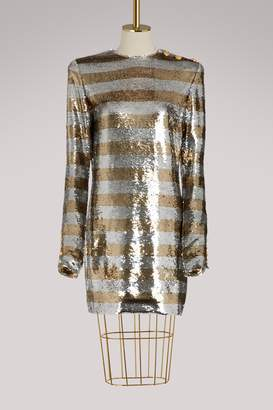 d357e62e1ca4 Balmain Sequin Cocktail Mini Dress - ShopStyle