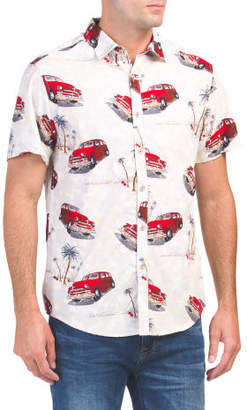 Car And Palm Print Shirt