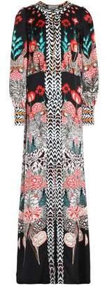 Temperley London Printed Silk-Cloqué Gown
