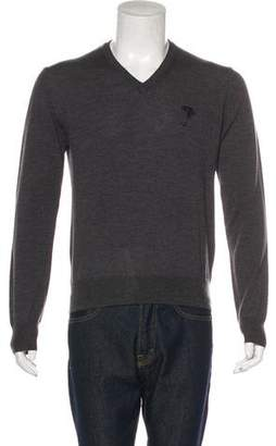 Versace Wool V-Neck Sweater