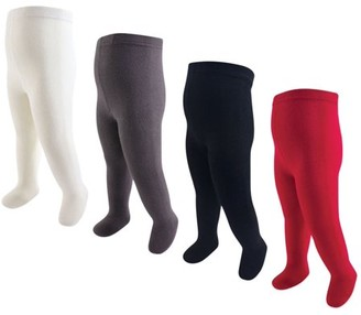 Touched By Nature Organic Cotton Tights 4pk (Baby Girls)