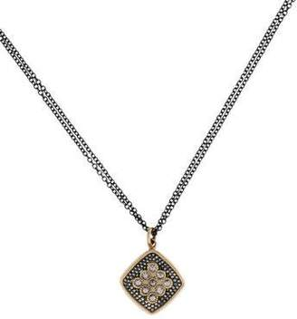 Moritz Glik 18K Sterling Diamond Pendant Necklace