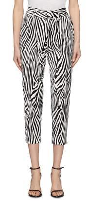Frame Zebra print tuxedo pants