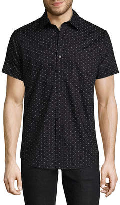 Decree Short Sleeve Polka Dot Button-Front Shirt