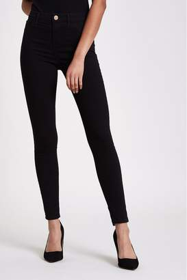 River Island Womens Black Molly Mid Rise Jeans Regular Leg - Black