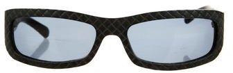 Bottega VenetaBottega Veneta Intrecciato Oval Sunglasses