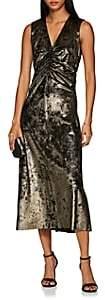Masscob Women's Metallic Velvet Sheath Dress - Neutral