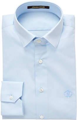 Roberto Cavalli Light Blue Slim Fit Dress Shirt