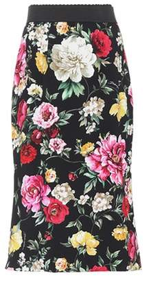 Dolce & Gabbana Floral-printed midi skirt