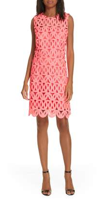 Milly Sienna Lace Detail Shift Dress