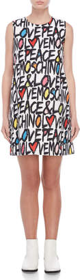 Love Moschino Printed Shift Dress