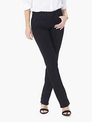 NYDJ Marilyn Straight Jeans, Black