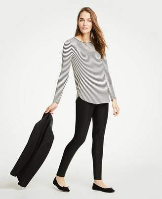 Ann Taylor Faux Leather Ponte Leggings