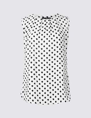 M&S Collection Spotted Round Neck Vest Top