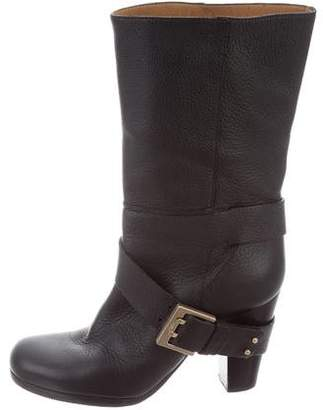 Chloé Leather Mid-Calf Boots