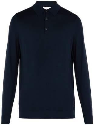 Sunspel Long-sleeved merino-wool polo shirt