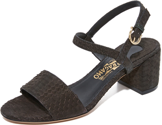 Salvatore Ferragamo Elita Sandals $675 thestylecure.com