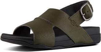 FitFlop BANDO TM Men's Perforated Leather Back-Strap Sandals