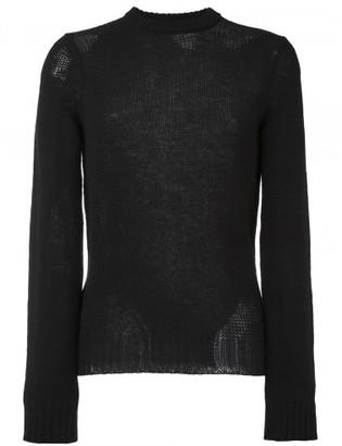 Maison Margiela distressed knit sweater $585 thestylecure.com