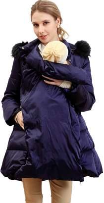 Sweet Mommy Fur Hood Maternity and Babywearing Down Coat NVLL