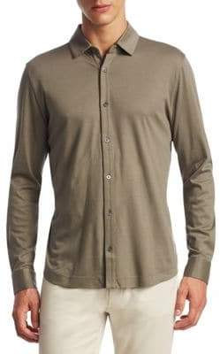 Saks Fifth Avenue COLLECTION Long Sleeve Button-Down Polo