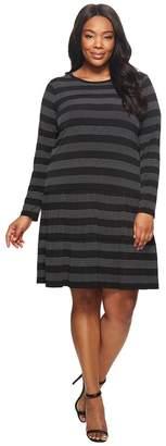 MICHAEL Michael Kors Size Striped Dot T-Shirt Dress Women's Dress