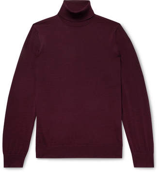 Dunhill Slim-Fit Wool Rollneck Sweater - Men - Merlot