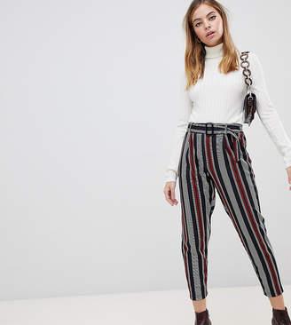 New Look Petite stripe pants in black pattern