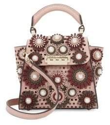 Zac Posen Eartha Perforated Leather & Faux-Pearl Handbag